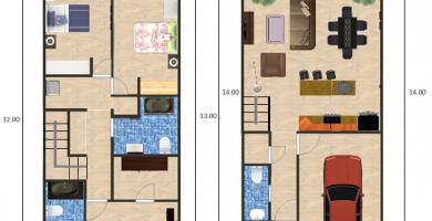Planos de arquitectura planos de casas e ideas de dise o for Diseno de apartamentos de 50 metros cuadrados