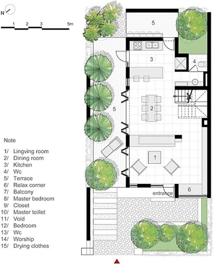 Planos de casa terreno de 160 metros cuadrados