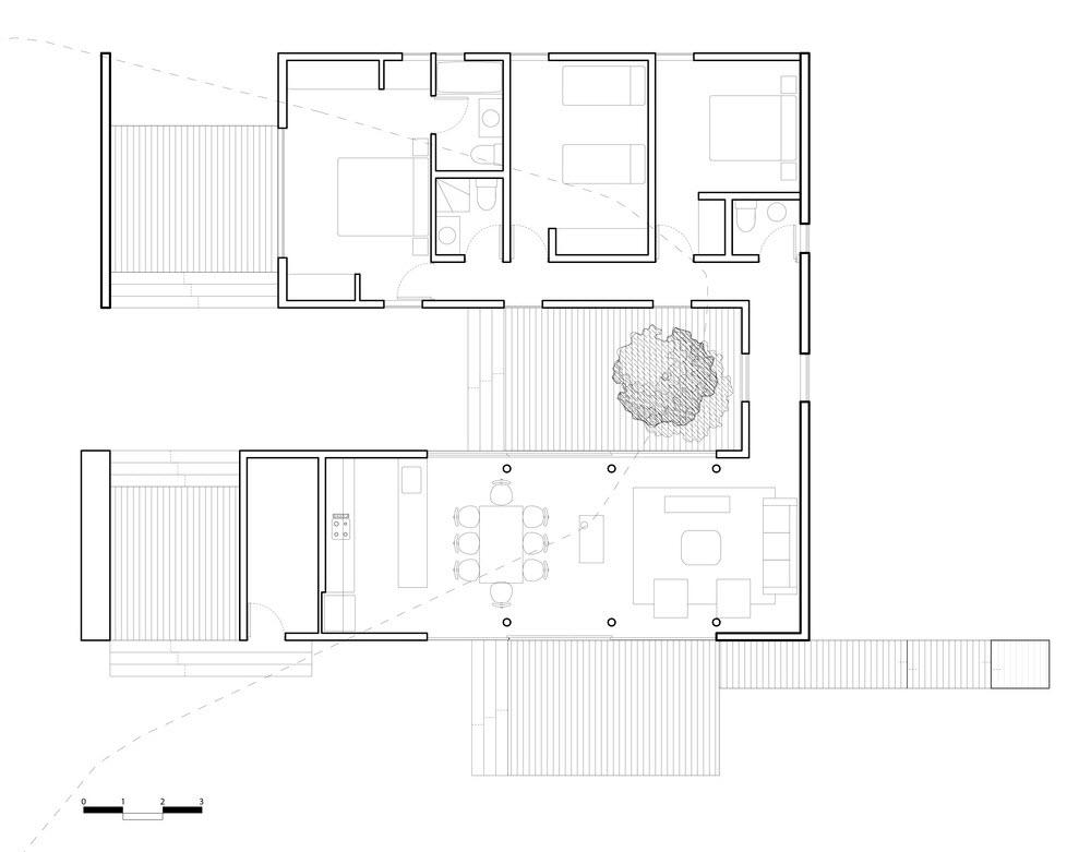 Casa de campo de tres dormitorios planos de arquitectura for Planos de casas de campo de 3 dormitorios