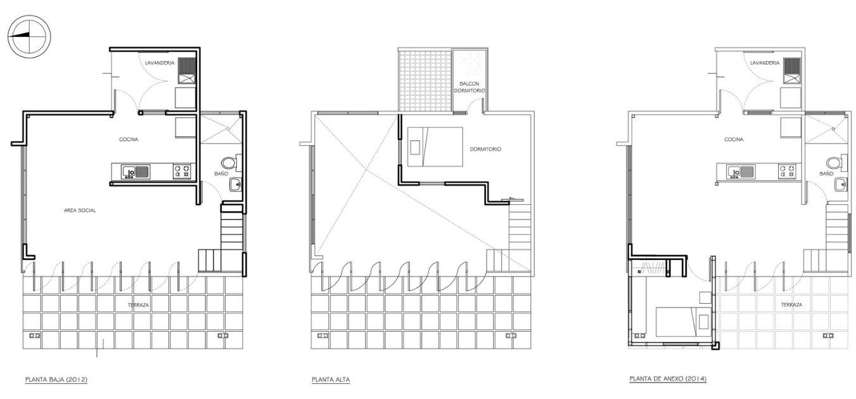 Zona social con techo a doble altura