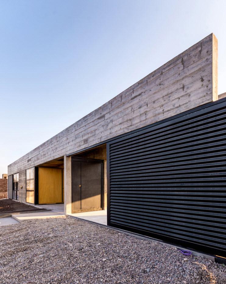 Casa de un piso construida en concreto planos de arquitectura - Casas de cemento ...