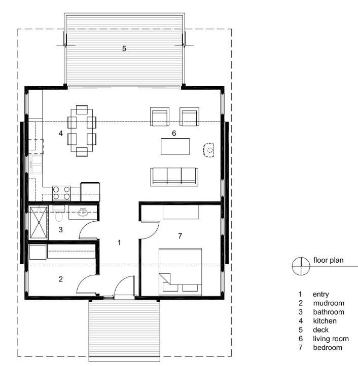 Dise o peque a casa de campo moderna planos de arquitectura for Plantas arquitectonicas de casas