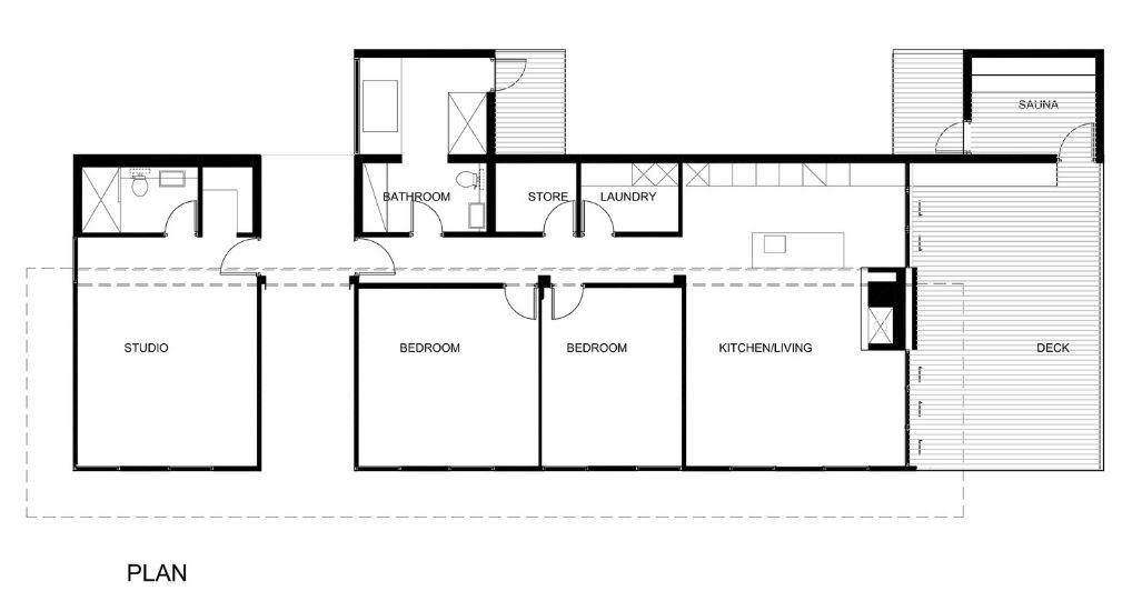 Plano de casa de campo 140 metros cuadrados