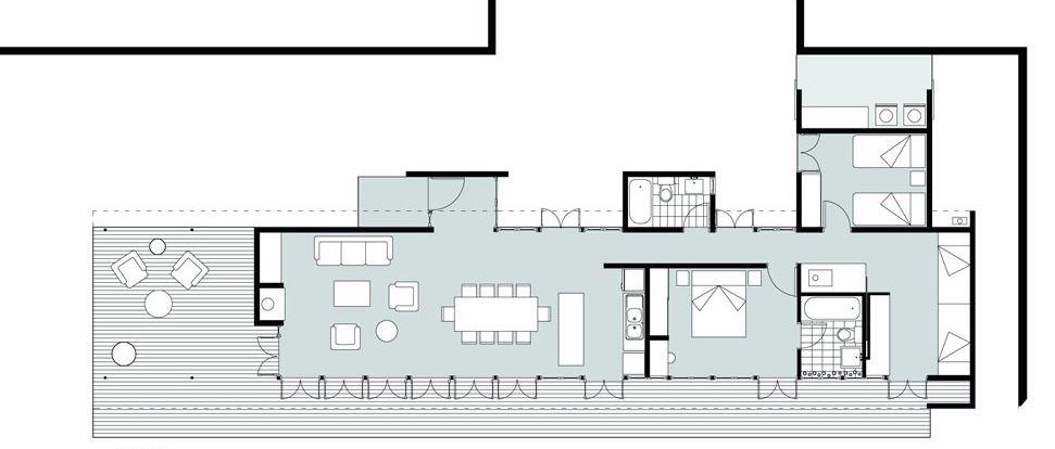 Dise o casa de campo tres dormitorios planos de arquitectura - Fotos de casas en forma de l ...