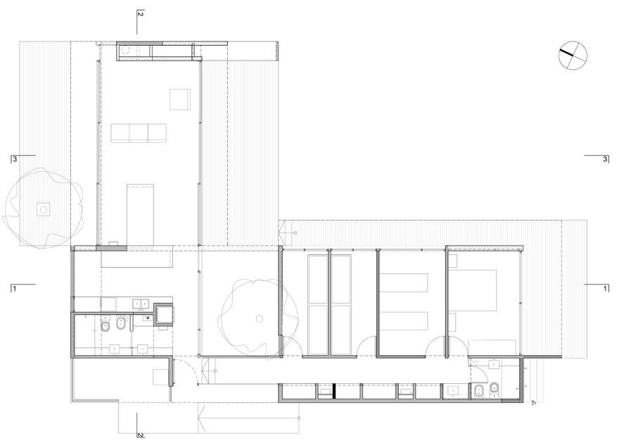 Casa de un piso forma de l planos de arquitectura - Fotos de casas en forma de l ...