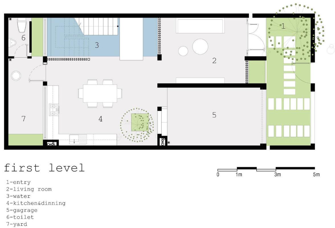 Dise o de casa moderna 112 m planos de arquitectura for Diseno de casa de 7 x 17
