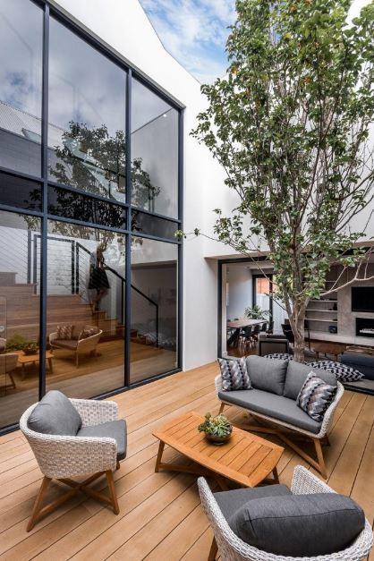 Diseño de acogedora terraza