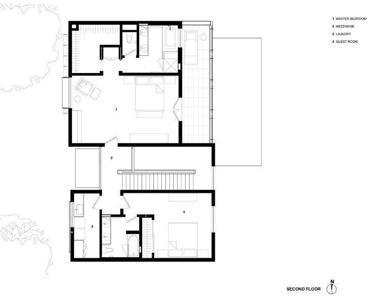 Segunda planta de la casa