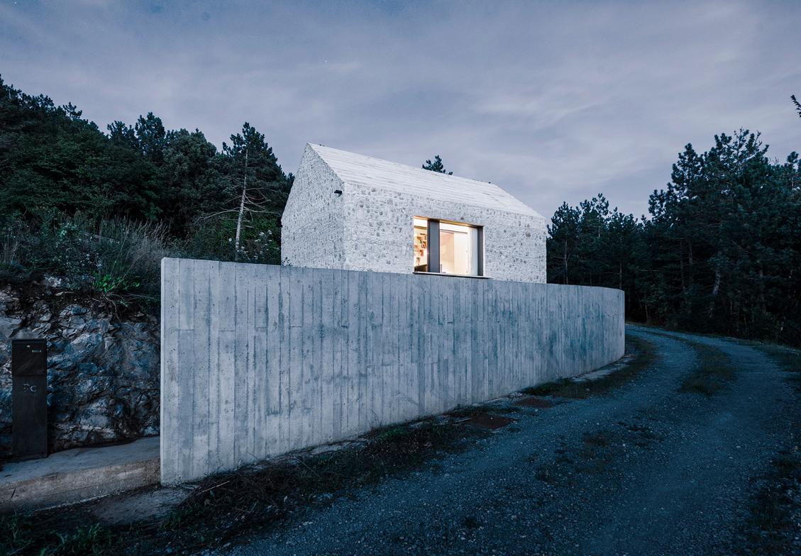 Diseño de cabaña piedra piedra