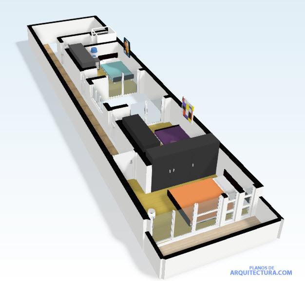Planos casa peque a de dos pisos planos de arquitectura for Diseno de casas 3d online