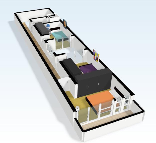 3d segundo piso planos de arquitectura - Diseno de casas 3d ...