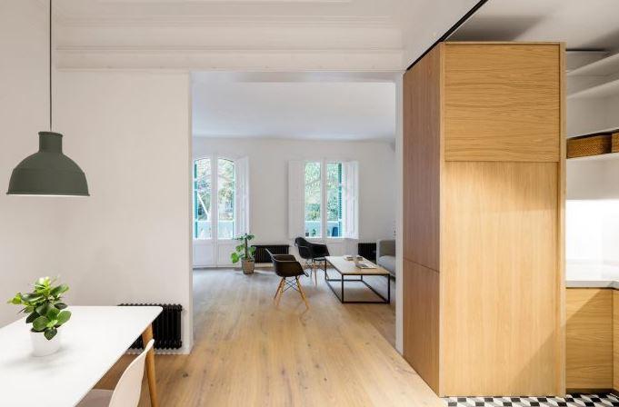 Dise o de peque o departamento 65 m planos de arquitectura Departamentos minimalistas