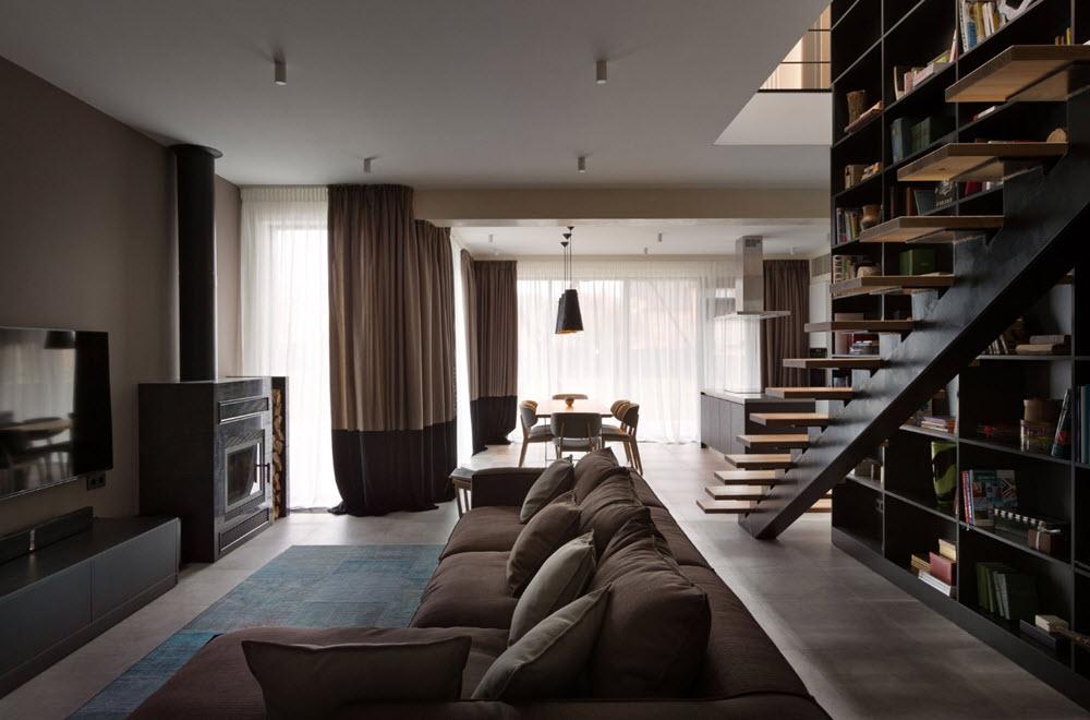 Dise o de casa moderna de dos pisos planos de arquitectura for Ambientes de una casa moderna