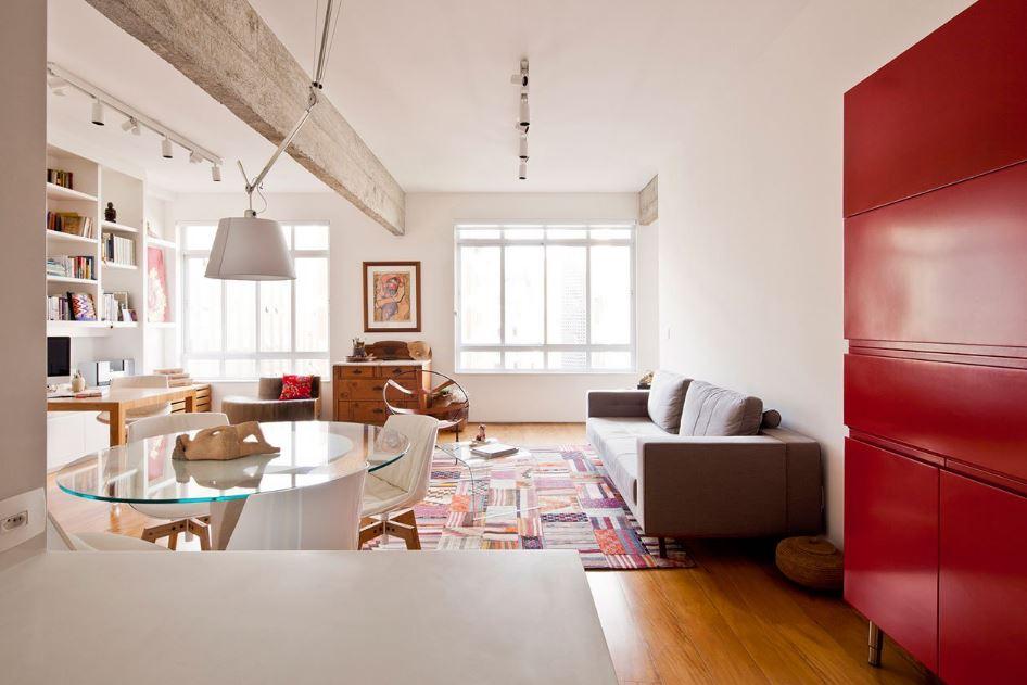 Amplios espacios con detalle de estructura expuesta