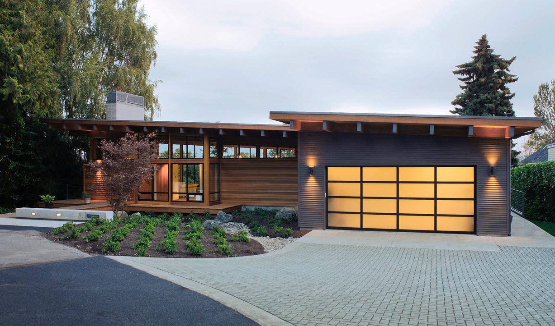 Casa de un piso moderna de madera planos de arquitectura - Casa de madera ...