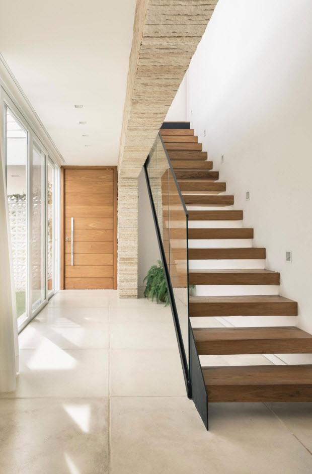 Dise o moderna casa dos pisos planos de arquitectura for Interior de la casa de madera moderna