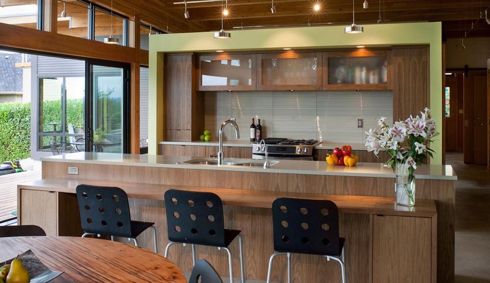 Casa de un piso moderna de madera planos de arquitectura for Diseno de pisos interiores