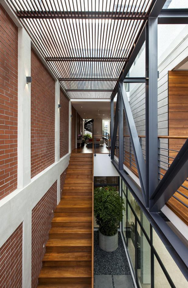 Diseño de interiores con la mezcla de modernos materiales