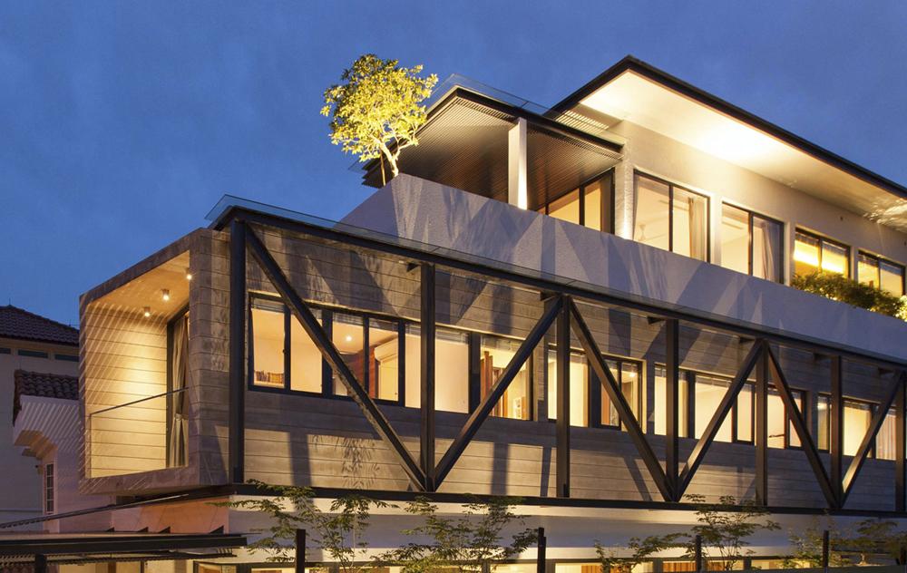 Diseo casa moderna tres pisos Planos de Arquitectura