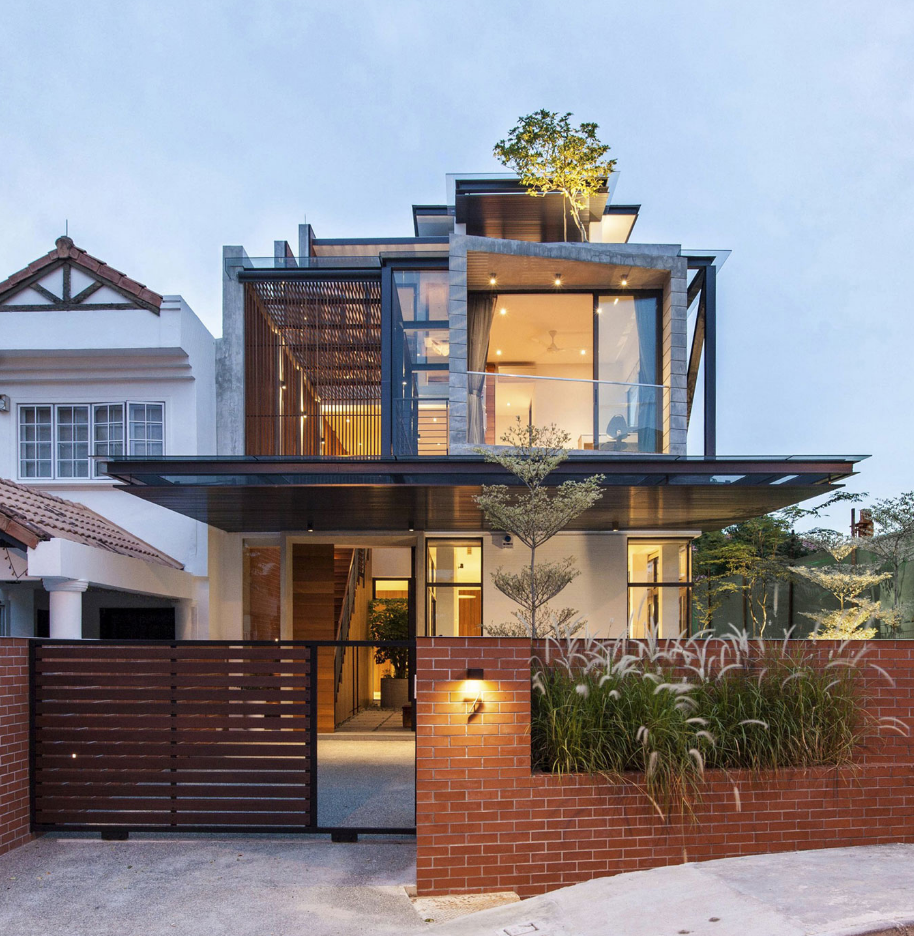 Dise o casa moderna tres pisos planos de arquitectura for Diseno de interiores de casas de dos plantas
