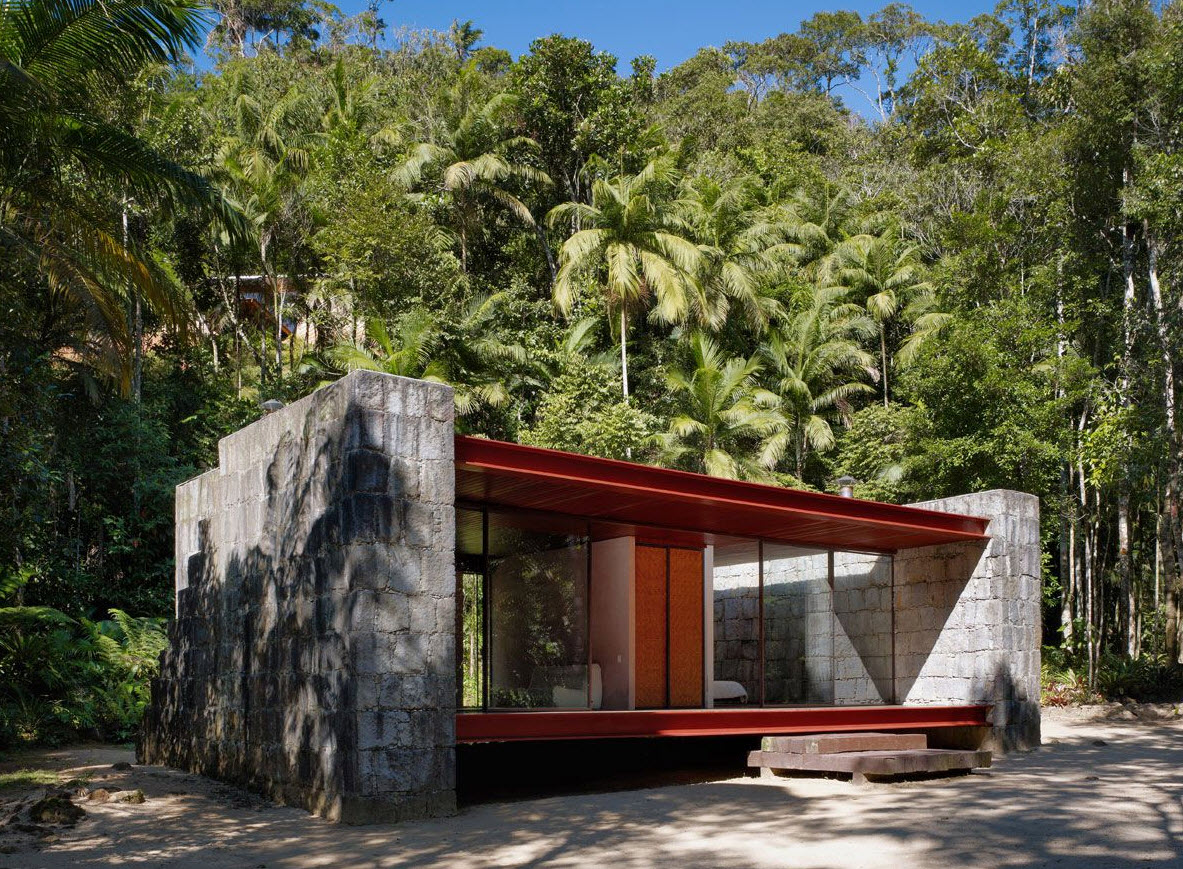Hermosa casa de campo con materiales rústicos y modernos – Planos de ...