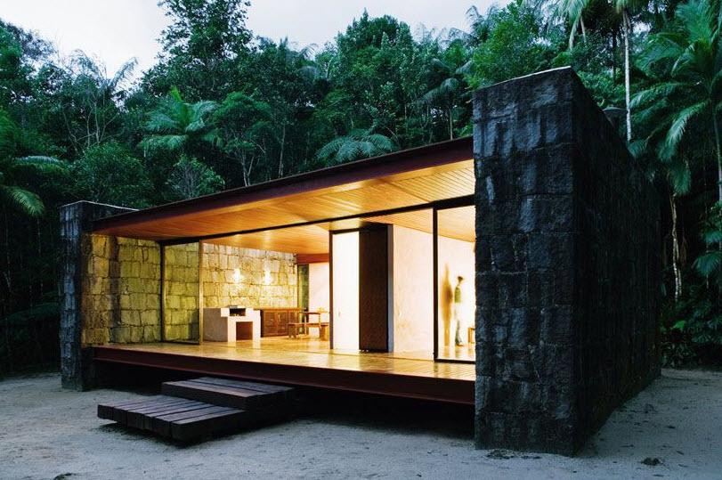 Hermosa casa de campo con materiales r sticos y modernos planos de arquitectura - Casas de materiales ...