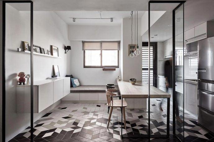 Hermosa cocina con estilo moderno