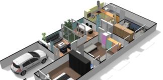 planos de casas largas y estrechas