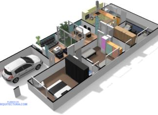 Imagen 3D de la casa de ciudad
