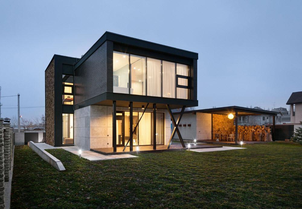 Dise o de casa moderna de dos pisos planos de arquitectura - Estructuras de acero para casas ...