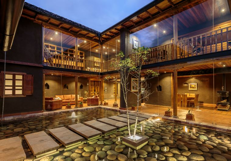 Diseño de interiores de casa típica de campo