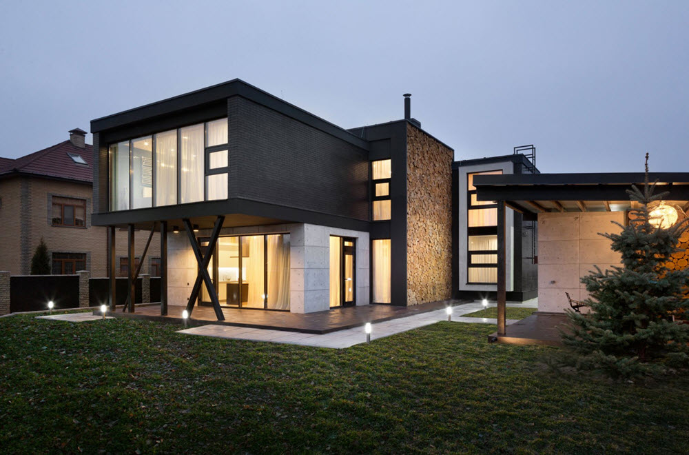 Dise o de casa moderna de dos pisos planos de arquitectura for Disenos de pisos para casas