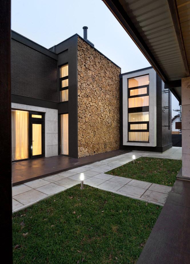 Fachada de casa con diseño original y exclusivo