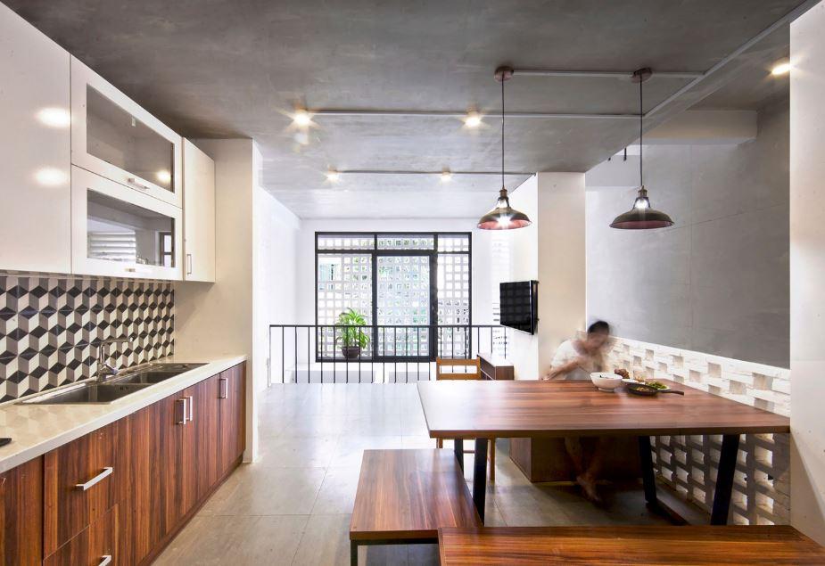 Moderno interior de cocina-comedor