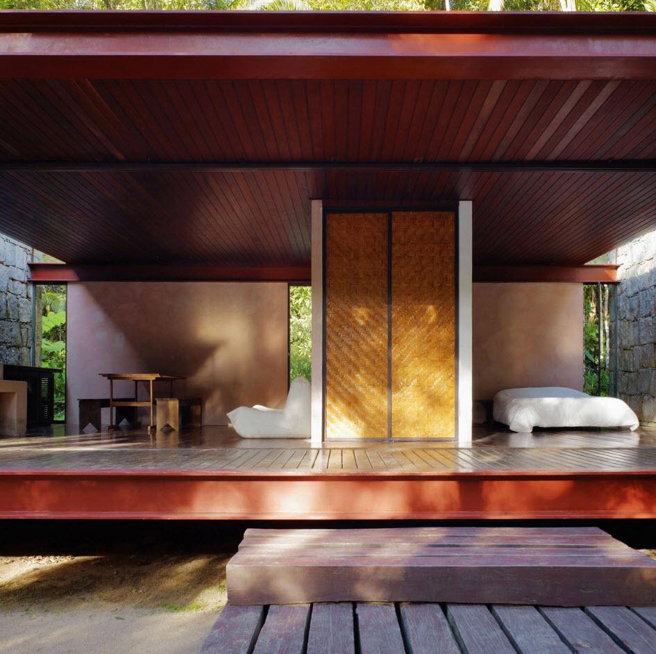 Moderno interior con estilo rústico y modernoa casa de campo
