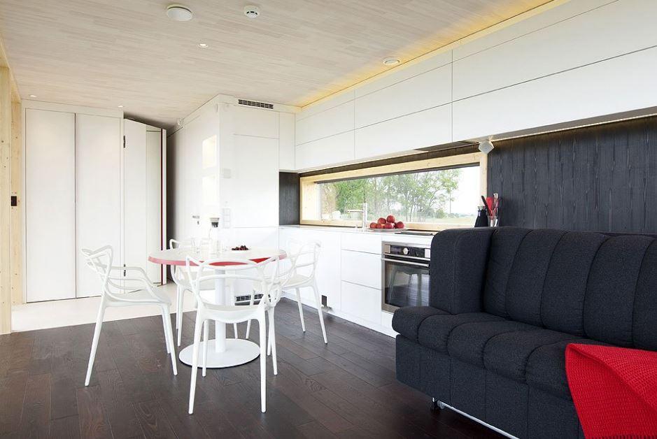 Moderno interior resalta por su sencills y espacialidad