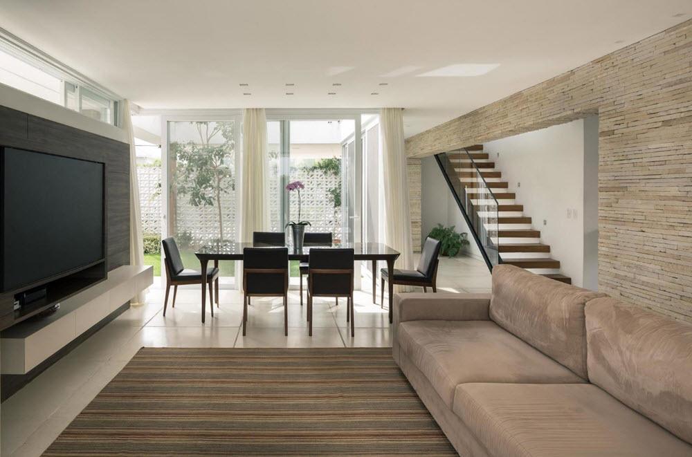Dise o moderna casa dos pisos planos de arquitectura for Sala de estar segundo piso