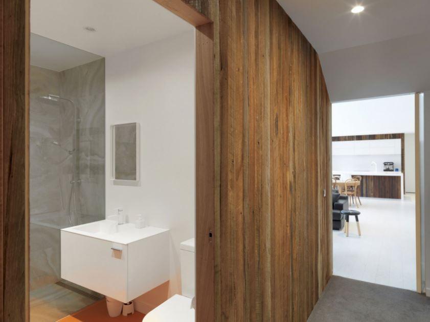 Muros revestidos con madera
