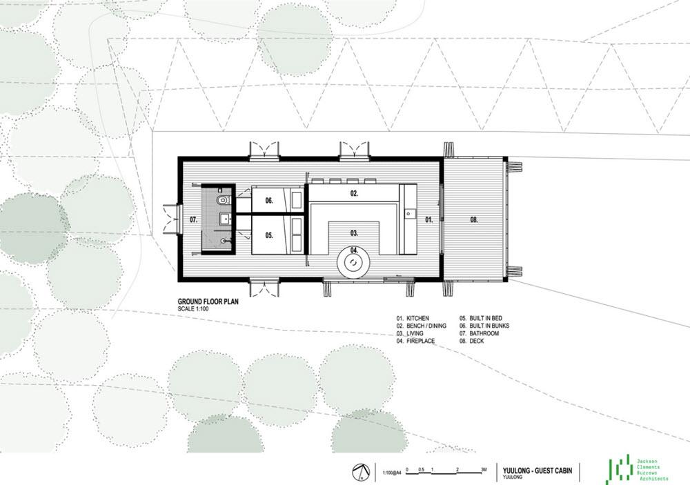Plano de la pequeña casa de un piso
