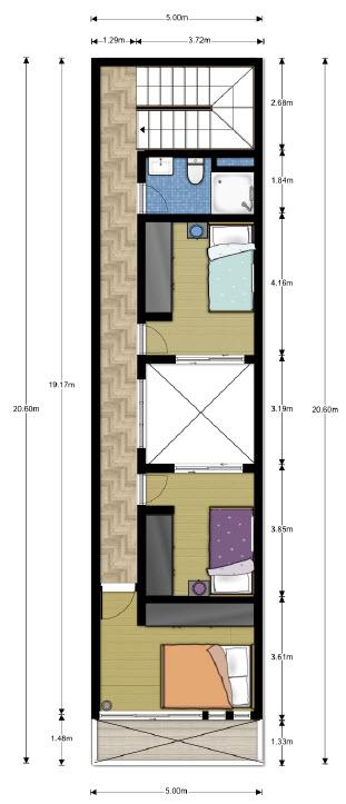 Plano del segundo nivel planos de arquitectura for Arquitectura casas pequenas