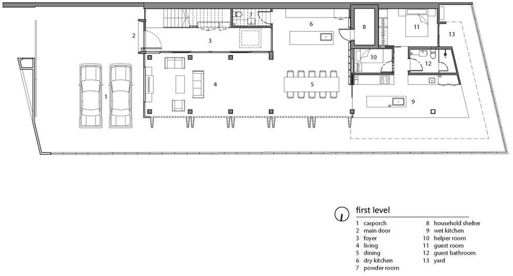 Diseño casa moderna tres pisos | Planos de Arquitectura