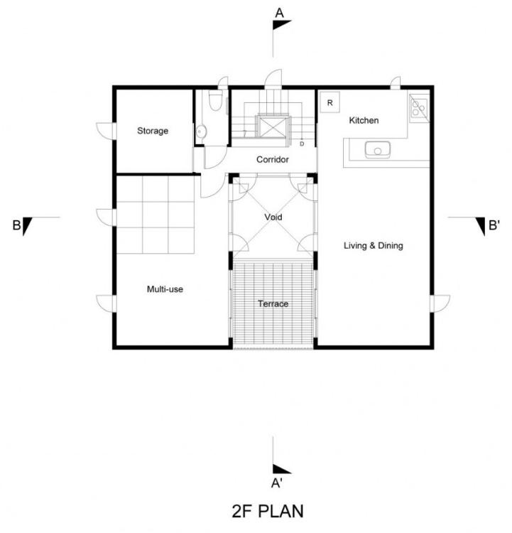 Planta del segundo nivel de casa segura