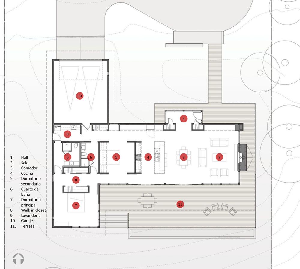 Planos de casas de madera de una planta free planos with - Planos de casas de 2 plantas ...