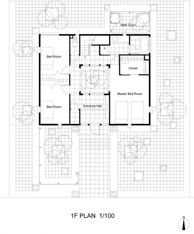 Planta principal casa dos pisos segura y fuerte