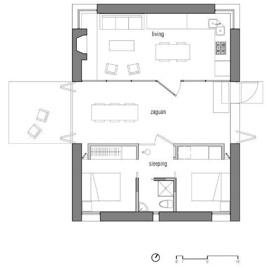 Dise o de peque a casa de campo planos de arquitectura - Planos de casas pequenas de campo ...
