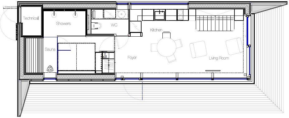 Planta principal de la peque a casa planos de arquitectura for Plantas de arquitectura
