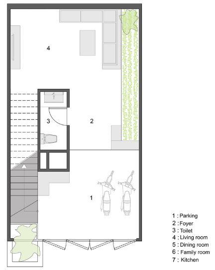 Plano casa pequeña de 45 metros cuadrados