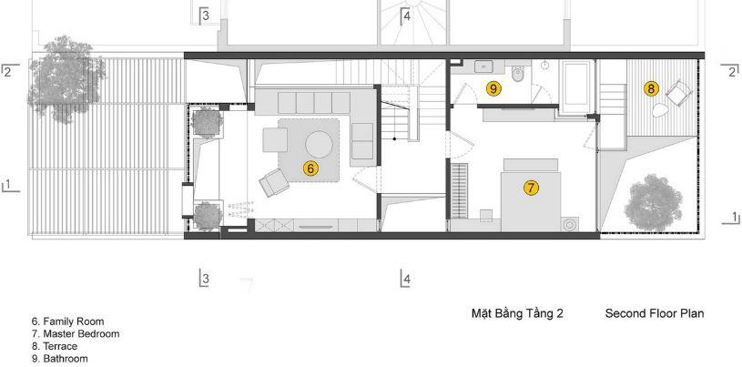 Segunda planta de la vivienda