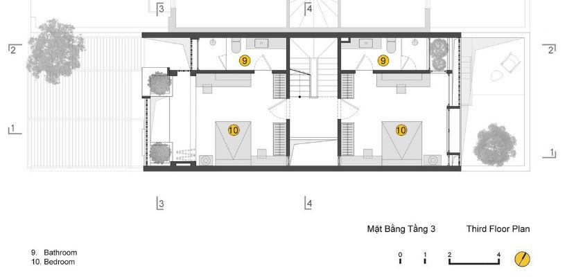 Tercera planta de la vivienda