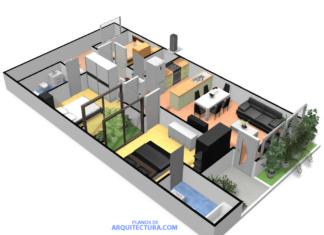 Gráfico 3D de la pequeña casa